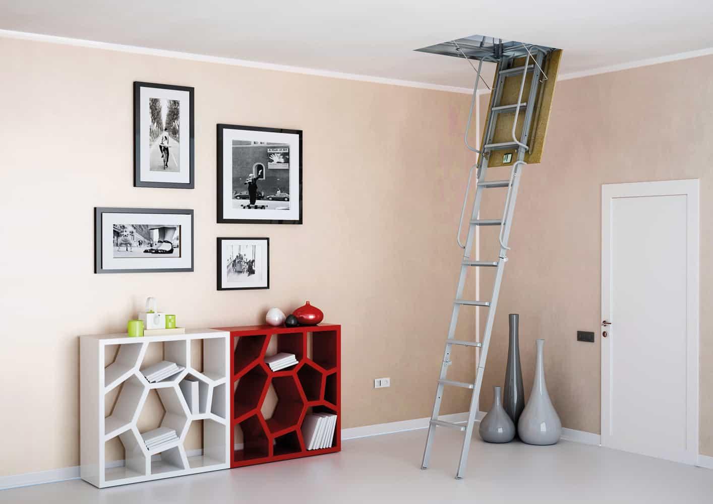 7 consejos para instalar escaleras retra bles for La casa de las escaleras de aluminio